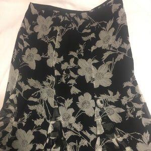 Black and Gray flower skirt.